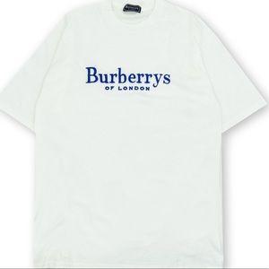 Burberry's of London white tshirt men's size S vtg